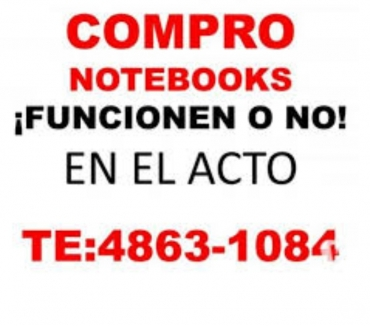 Fotos de COMPRO NOTEBOOKS Y NETBOOKS ¡ FUNCIONEN O NO ! Te: 4863-1084
