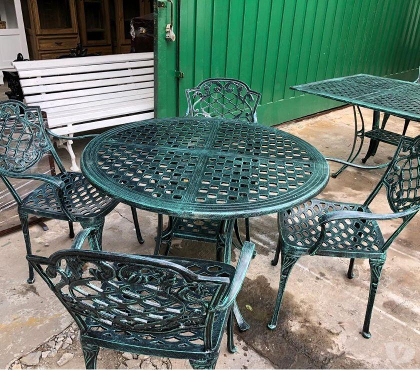 Fotos de Juego de jardin mesa y sillas fundicion de aluminio