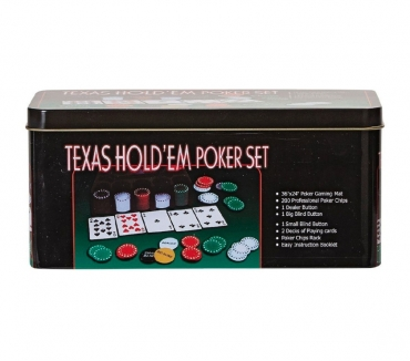 Fotos de Set De Poker Texas Hold'em 200 Fichas Caja Metálica Bisonte