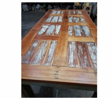 Usado, Mesa rustica madera demolicion segunda mano  Gran Buenos Aires