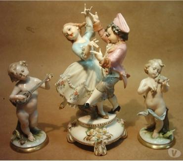 Fotos de Bailarines Y Músicos Porcelana Capodimonte, Conjunto