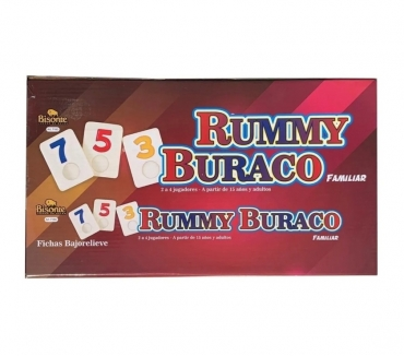 Fotos de RUMMY Y BURACO FAMILIAR BISONTE CON FICHAS BAJO RELIEVE