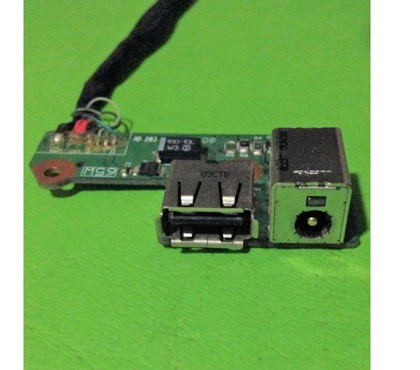 Fotos de Placa Power Cable Dc Jack HP Compaq F700 ddat8bpb1002108