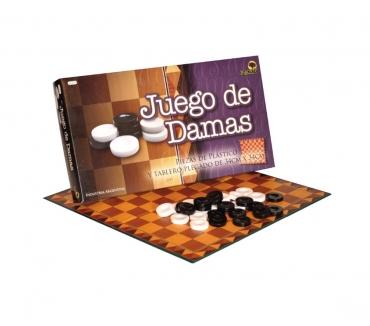 Fotos de JUEGO DE DAMAS PIEZAS PLÁSTICAS TABLERO PLEGABLE 34x34 CM.