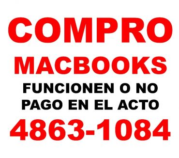 Fotos de Compro MACBOOKS funcionen o no TE:4863-1084