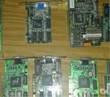 Fotos de vendo antiguas placa de video pci