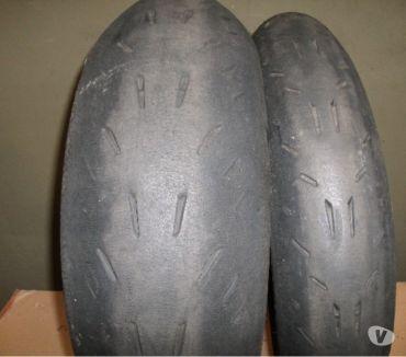 Fotos de Michelin 190-55-17 y 120-70-17 Power Cup Evo Usadas en Pista
