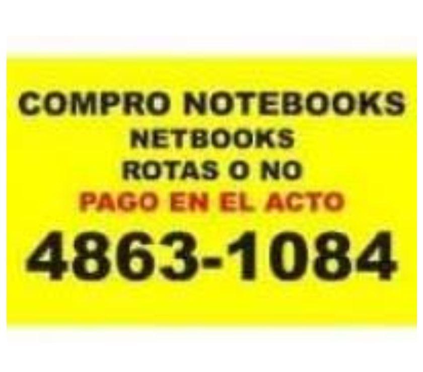 Notebook en Venta Capital Federal Palermo - Fotos de EN EL MOMENTO COMPRO NOTEBOOKS ROTAS O NO PALERMO