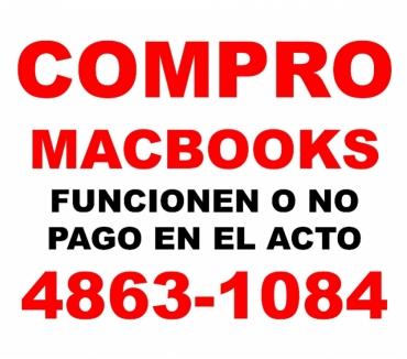 Fotos de COMPRO MACBOOKS ROTAS O NO Te: 4863-1084