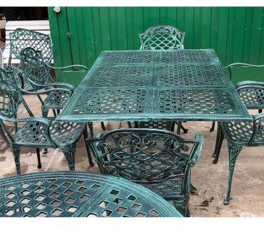 Fotos de juego de jardin mesa y sillas de fundicion de aluminio