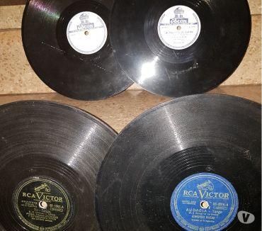 Fotos de 5 Discos sonoros de pasta de 78 RPM en muy buen estado
