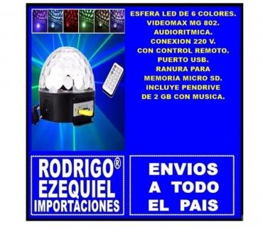 Fotos de ESFERA LED 6 COLORES USB CONTROL REMOTO Y MICRO SD 220 V