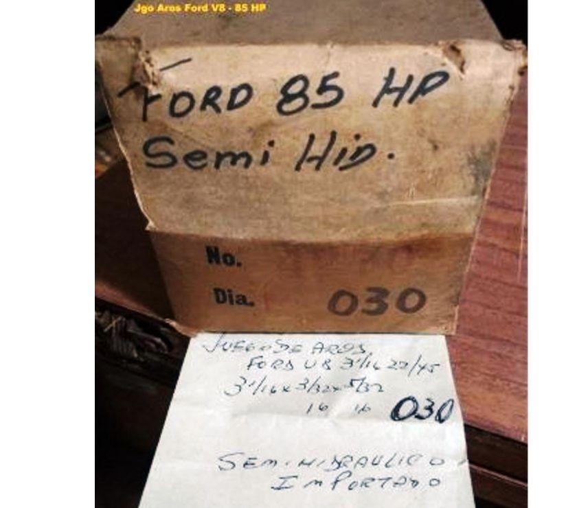 Autopartes-Repuestos-Servicios Capital Federal Nuñez - Fotos de Jgo AROS Ford V8 - 85- 90 hp