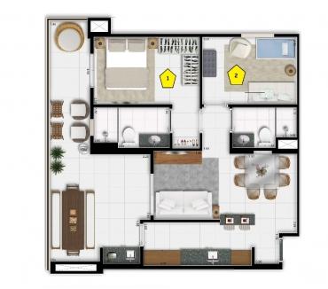 Fotos para Taguá Life Center em Taguatinga Apartamentos de 2 Qts Pronto