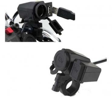 Fotos para Tomada Usb Pra Moto 2.1A 10W Carregador Celular Gps