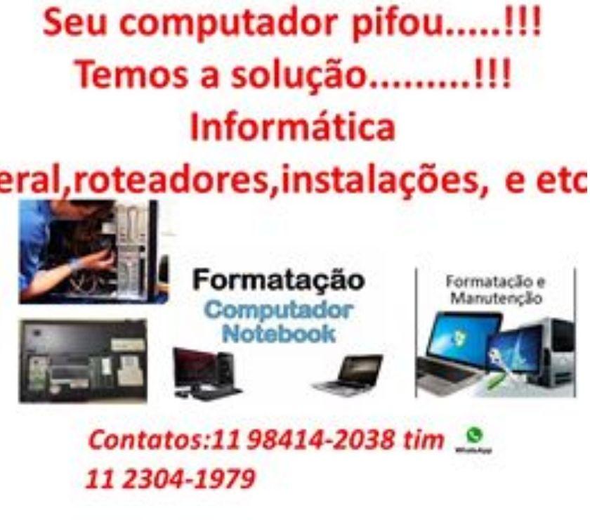 Serviços de Informática Grande Sao Paulo SP Guarulhos - Fotos para Assistência Técnica geral de informática - Notebook,desktop