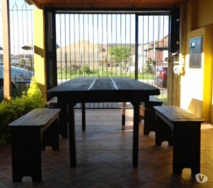 Fotos para conjunto de mesa e bancos para churrasco