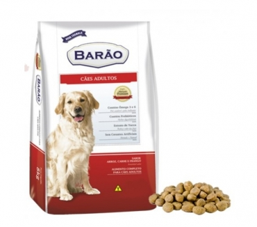 Fotos para Ração Barão Premium Cães Adultos Carne e Frango 25 kg