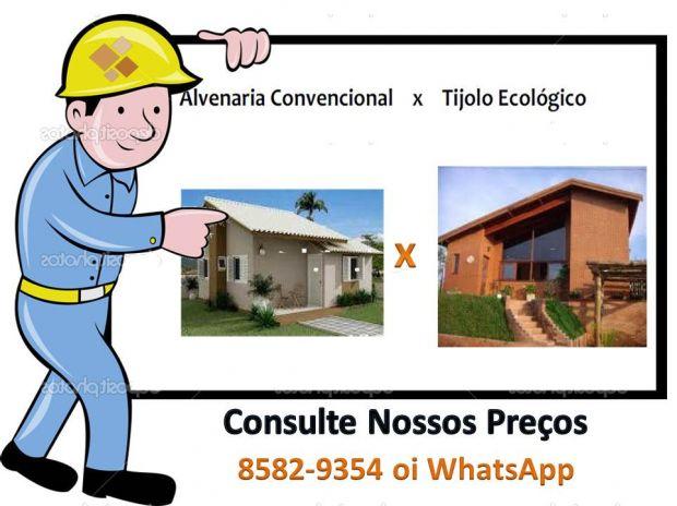 Fotos para Casa Construida com Tijolo Ecológico-Planta ao Acabamento