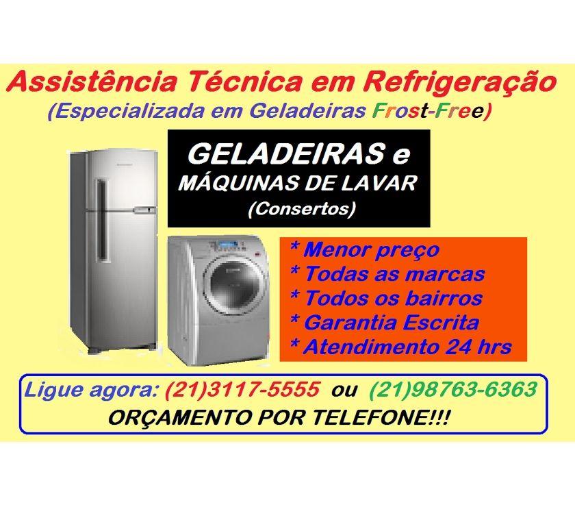 Reparo - Conserto - Reforma Rio de Janeiro RJ Tijuca - Fotos para Conserto 24hrs Especializa Geladeiras ELECTROLUX Frost-Free