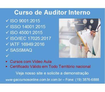Fotos para Curso online Auditor Interno da Norma ISOIEC 17025:2017