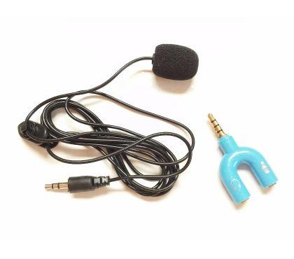 Fotos para Microfone Lapela & Adaptador P3 P2 Azul YouTube