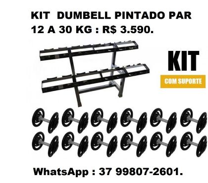 Fotos para Kit Dumbell Pintado