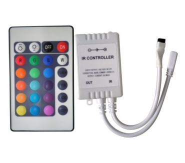 Fotos para Controlador + Controle Fita de LED RGB Colorida 5050 e 3528