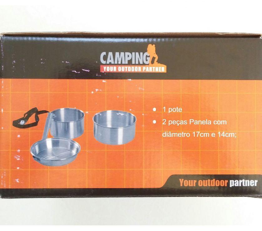Fotos para Conjunto Panelas Alumínio Camping - 4 Peças
