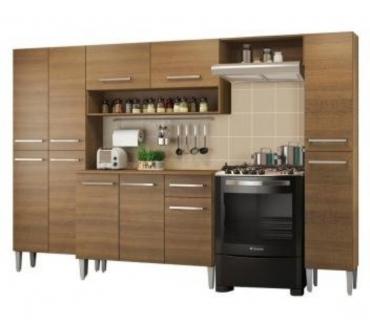 Fotos para Cozinha Completa Madesa Emilly Hit com Armário e Balcão Rust