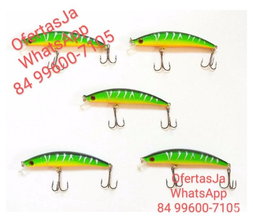 Fotos para Isca Artificial de Pesca Minnow Green 7070 (9 cm) & (9 g)