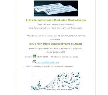 Fotos para Aulas de Instrumentos Musicais e Musicoterapia