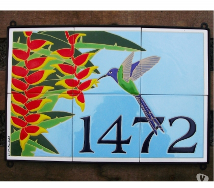 Fotos para Números residenciais e comerciais em azulejos pintados a mão