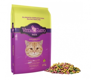 Fotos para Ração Vita Gato Mix 25 Kg - R$ 90,00