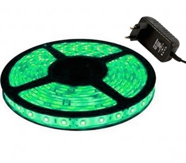Fotos para Fita de LED Verde 5050 + Fonte 12v 2a