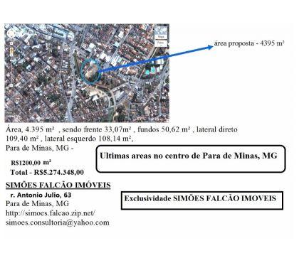 Fotos para Area 4000 mts centro de Para de Minas