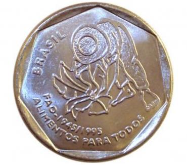 Fotos para Moeda 25 centavos 1995 FAO - raríssima