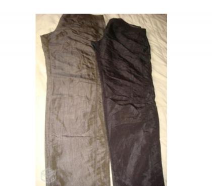 Fotos para 2 Calças social preta e marron n44 de seda nova lindas.