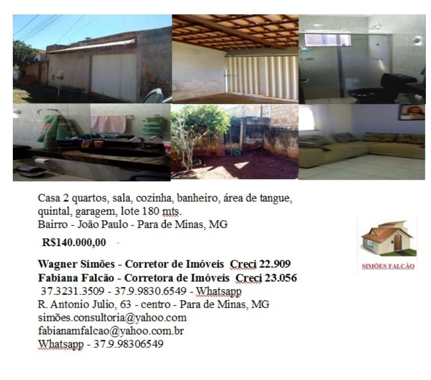Fotos para Casa 2 quartos com quintal garagem, etc