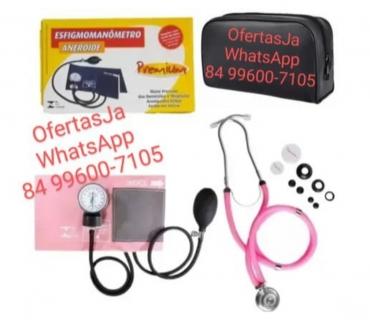 Fotos para Kit Enfermagem Esfigmomanômetro e Estetoscópio Premium Rappa