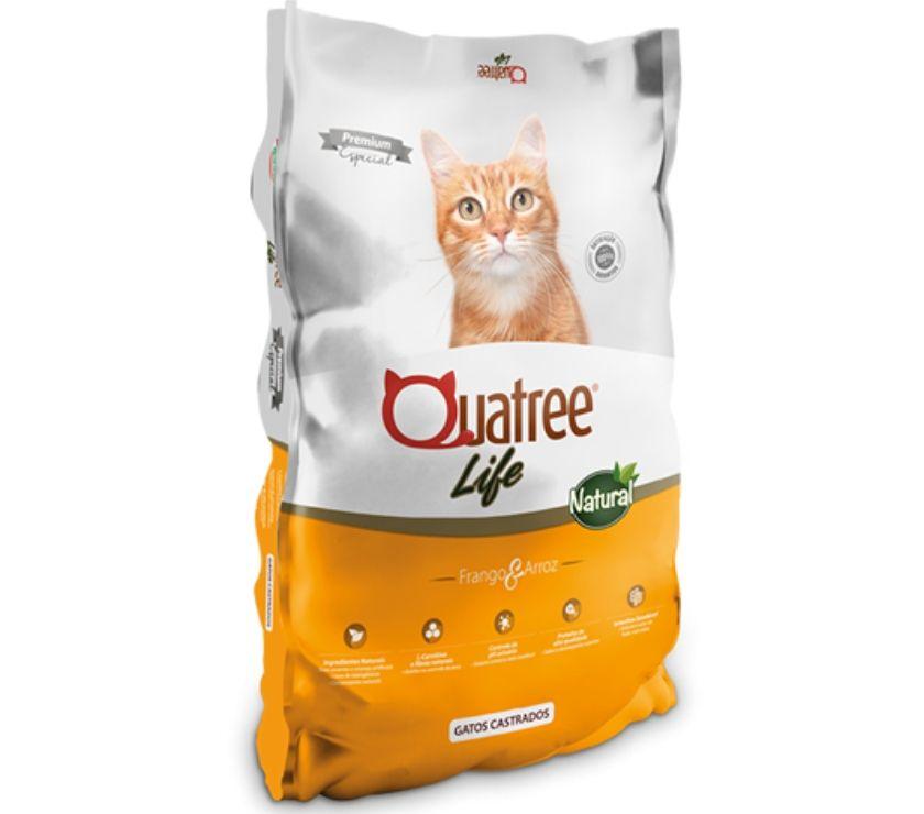 Fotos para Ração Quatree Life Gatos Castrados 20 KG - SEM TRANSGÊNICOS