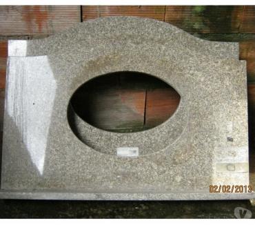 Fotos para Pia Nova Ovalada Granito Caramelo 82cm x 53cm x frontão 7cm