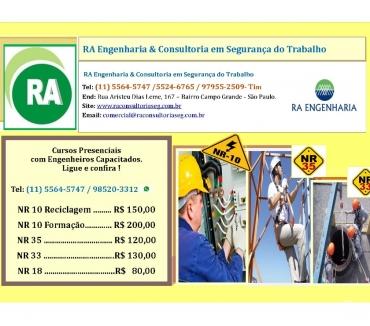 Fotos para Cursos NR-10, NR-33, NR-35 R$150,00 Santo Amaro Zona Sul SP