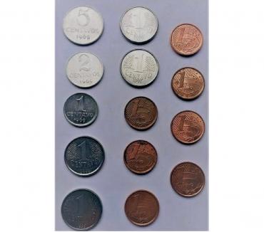 Fotos para Moedas - Colecao - 1 centavo - 1994 a 1997