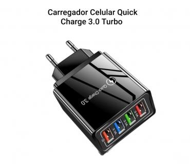 Fotos para Carregador Celular Quick Charge 3.0 Turbo 4 Saídas Usb 3.1A