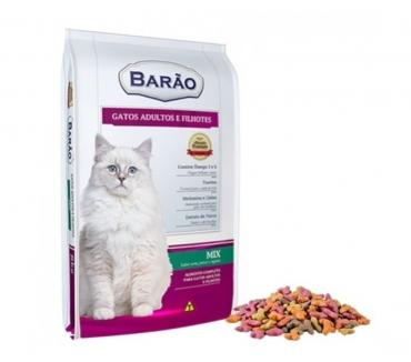 Fotos para Ração Barão Premium Gato Mix (Carne, Peixe e Vegetais) 25 Kg