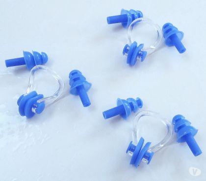 Fotos para Kit Protetor Nasal e Auricular azul para Mergulho e Natação
