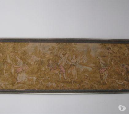 Fotos para Antigo quadro de tapeçaria gobelin