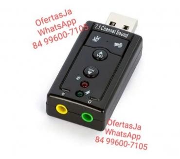 Fotos para Placa de Som Usb 7.1 Canais 3d Adaptador Áudio