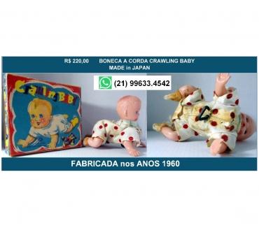 Fotos para Antiga boneca Crawling baby.Funcionando-Japonesa-cx original